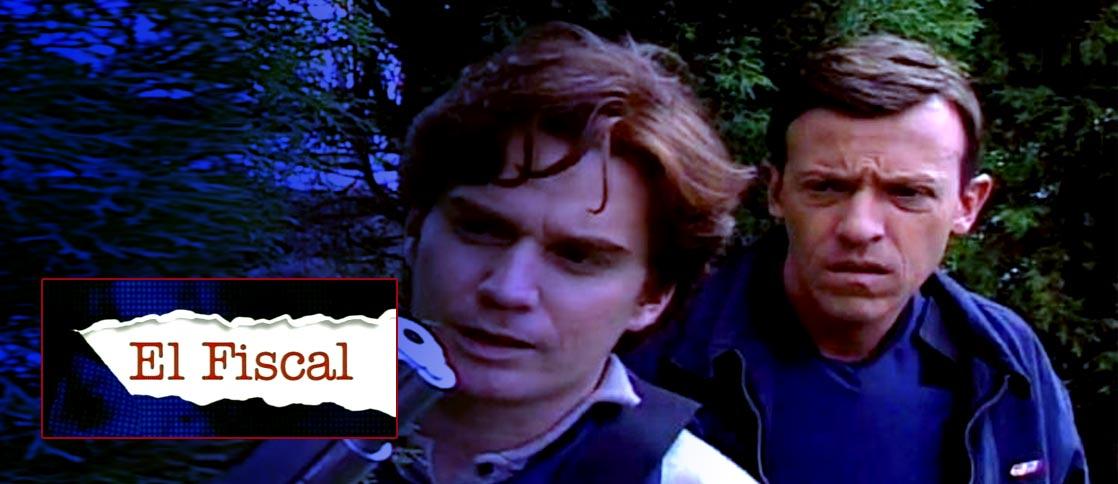 Diego Trujillo y Nicolás Montero en la serie El Fiscal. Fotos: RCN