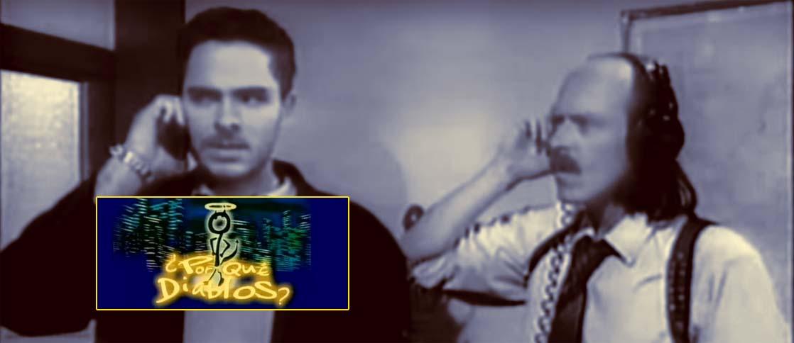 Diego Trujillo y Manolo Cardona en Por Que Diablos? foto: cempro canal uno