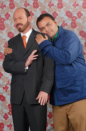 Diego Trujillo y Enrique Carriazo en Los Reyes Foto: RCN