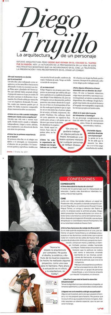 Las raíces de Diego Trujillo en Revista Unete