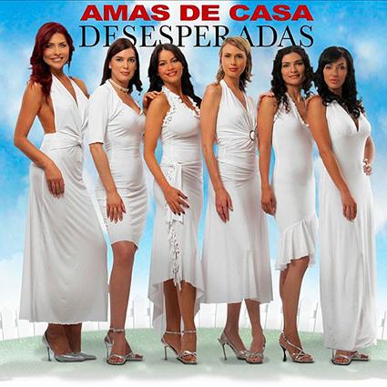Elenco Amas de Casa Desesperadas, Lorena Meritano, Ruddy Rodríguez, Sofía Vergara, Geraldine Zivic, Ana María Orozco, Marisol Romero. Foto: Canal RCN