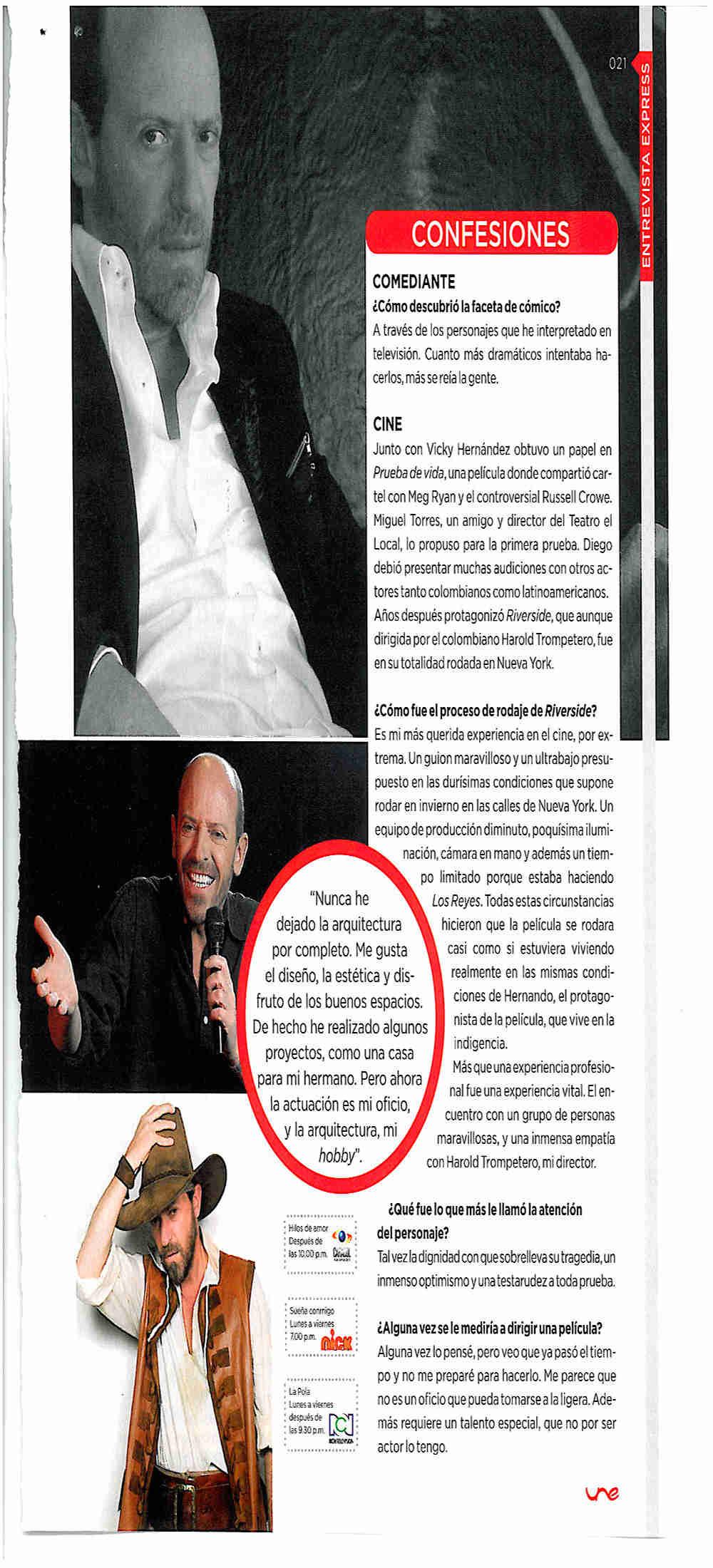 Entrevista a Diego Trujillo sobre su recorrido artístico. Foto: Revista Úne-Une