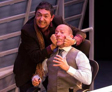 Diego Trujillo y Ernesto Benjumea en El Crédito Foto: Teatro Nacional